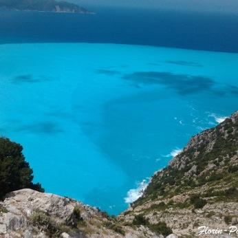 Insula Kefalonia - Panorama plaja Myrthos