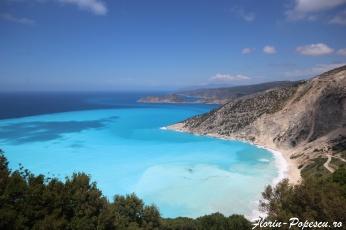 Insula Kefalonia - Culoarea marii plaja Myrthos