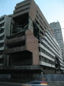 Cladire afectata de razboiul din Serbia