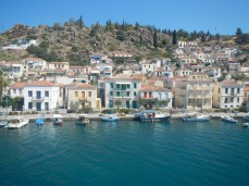 Panorama view Poros Port