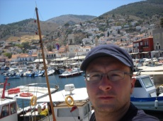 Selfie at Hydra port