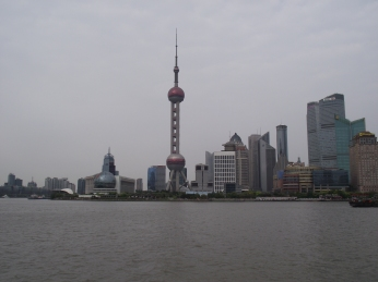 China - Shanghai -Pearl Tower by day